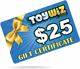 ToyWiz.com $25 Gift Certificate