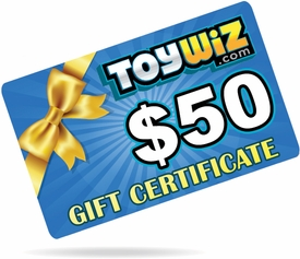 ToyWiz.com $50 Gift Certificate