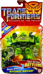 Transformers 2: Revenge of the Fallen Movie Action Figure Fast Action Battlers Beam Blast Autobot Ratchet