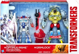 Transformers 4 Age of Extinction Exclusive Action Figure 2-Pack Silver Knight Optimus Prime & Grimlock
