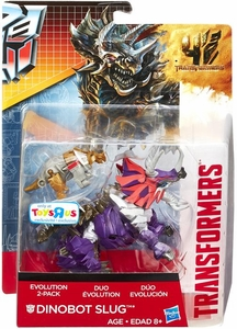 Transformers 4 Age of Extinction Exclusive Evolution Action Figure 2-Pack Dinobot Slug
