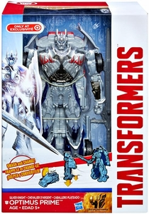 Transformers 4 Age of Extinction Exclusive Smash & Change Action Figure Silver Knight Optimus Prime