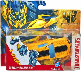 Transformers 4 Age of Extinction One Step Changer Action Figure Bumblebee New!