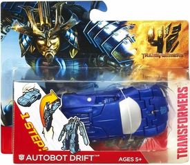 Transformers 4 Age of Extinction One Step Changer Action Figure Autobot Drift Car