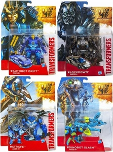 Transformers 4 Age of Extinction Set of 4 Deluxe Action Figures Dinobot Slash, Strafe, Lockdown & Autobot Drift Pre-Order ships November
