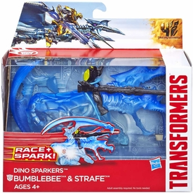 Transformers 4 Age of Extinction Sparkers Action Figure Bumblebee & Strafe New!