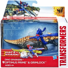 Transformers 4 Age of Extinction Sparkers Action Figure Optimus Prime & Grimlock New!