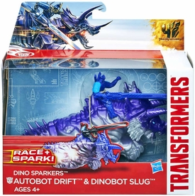 Transformers 4 Age of Extinction Sparkers Action Figure Slug & Drift New!