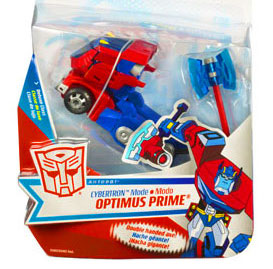 Transformers Animated Deluxe Figure Optimus Prime [Cybertron Mode] Damaged Package, Mint Contents!