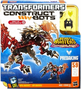 Transformers Construct-Bots Series 1 Exclusive Beast Hunters Predacons Rising Action Figure Predaking