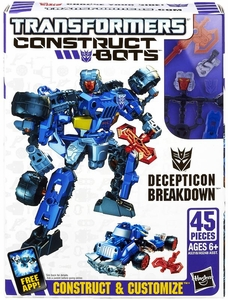 Transformers Construct-Bots Series 1 Scout Action Figure Decepticon Breakdown