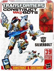 Transformers Construct-Bots Series 1 Scout Action Figure Silverbolt