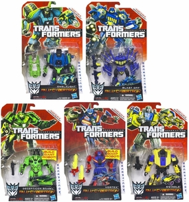 Transformers Generations Bruticus {Set of 5 Deluxe Fall of Cybertron Action Figures} [Brawl, Onslaught, Vortex, Blast-Off & Swindle]