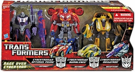 Transformers Generations Exclusive Deluxe Action Figure 3-Pack Rage Over Cybertron [Cybertronian Optimus Prime, Bumblebee & Megatron]