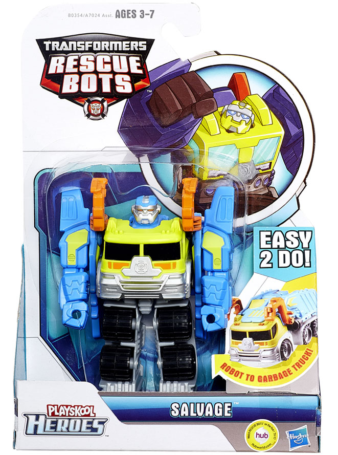 Transformers Rescue Bots Playskool Heroes Salvage Action
