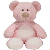 Ty Baby Soft Plush Baby Pink Bear