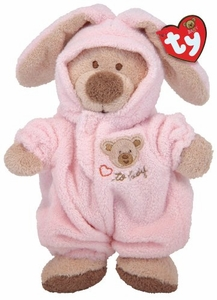 Ty Baby Soft Plush Pink PJ Bear (small)