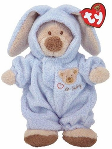 Ty Baby Soft Plush Blue PJ Bear (small)