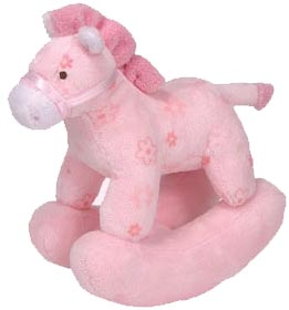 Ty Baby Soft Plush Pretty Pony Pink