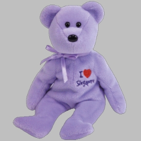 Ty Beanie Baby Asia Pacific Exclusive I Love Singapore the Bear