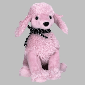 Ty Beanie Baby Brigitte the Pink Poodle Dog