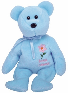Ty Beanie Baby British Columbia Pacific Dogwood Flower Bear