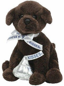 Ty Beanie Baby Chocolate Kiss the Dog