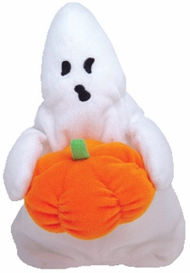 Ty Beanie Baby Ghoul the Boy Ghost Halloweenie Beanies
