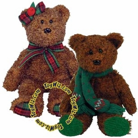 Ty Beanie Baby Hallmark Exclusive Seasons Greetings & Happy Holidays the Bears