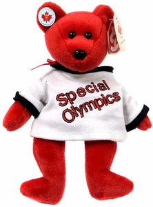 Ty Beanie Baby I Love Canada the Special Olympics Bear (Whiite Jersey)