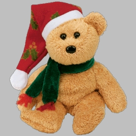 Ty Beanie Baby Jingle Beanies 2003 Holiday Teddy