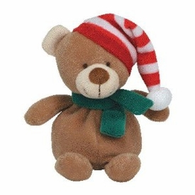 Ty Beanie Baby Jingle Beanies Flakes the Bear