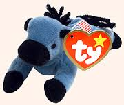 Ty Beanie Baby Lefty the Donkey Very Rare!
