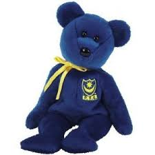 Ty Beanie Baby Pompey the European Bear
