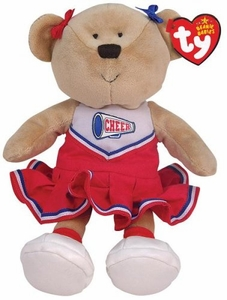 Ty Beanie Baby PomPoms the Cheerleader Bear