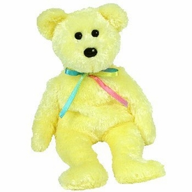 Ty Beanie Baby Sherbert the Bear Yellow Version