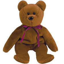 Ty Beanie Baby Teddy the Brown Bear