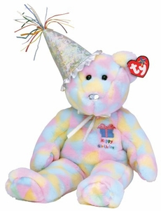 Ty Beanie Buddy Birthday Buddy the Bear