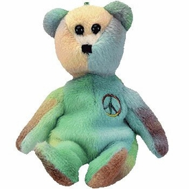 Ty Beanie Buddy Jingle Beanies Peace the Tye Dye Bear