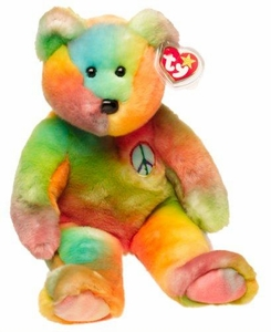 Ty Beanie Buddy Peace the Tye Dye Bear