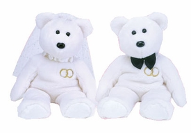 Ty Beanie Buddy Set Mr. and Mrs. Bear
