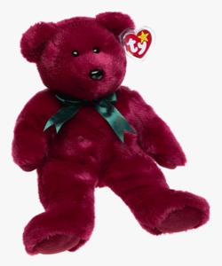 Ty Beanie Buddy Teddy the Cranberry Bear