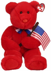 Ty Beanie Baby Thomas the Red Bear