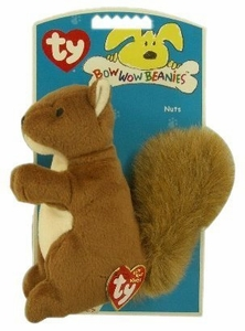 Ty Bow Wow Beanies Nuts the Squirrel