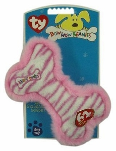Ty Bow Wow Beanies Pink Stripe Bone (Large)
