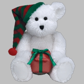 Ty Christmas Beanie Buddy Gift Wrapped the Bear