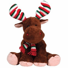Ty Christmas Pluffies Plush Merry Moose