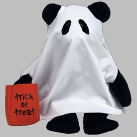 Ty Halloween Beanie Baby Shudders the Ghost Bear