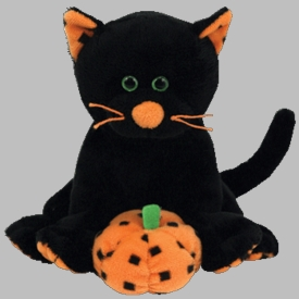 Ty Halloween Beanie Baby Superstition the Cat