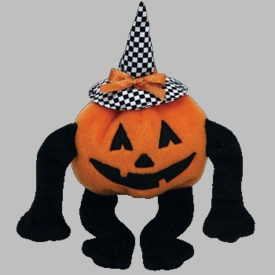 Ty Halloween Beanie Baby Trick R. Treat the Pumpkin